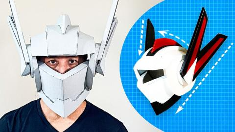 How to Build a Cardboard Robot Helmet | WIRED