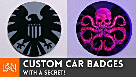 Custom Car Badges (WITH A SECRET) // How-To