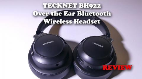 TECKNET BH922 Over The Ear Bluetooth Headset - Mic Test and REVIEW