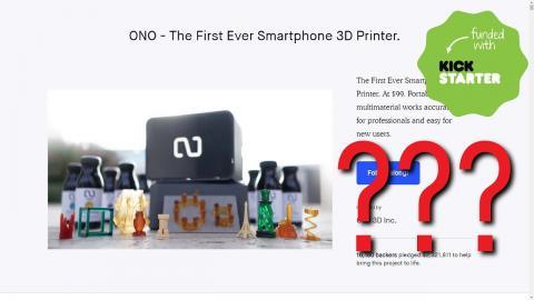 ONO! What happened to the OLO Smartphone 3D Printer Kickstarter?