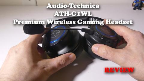 Audio-Technica ATH-G1WL Premium Wireless Gaming Headset Mic Test and REVIEW