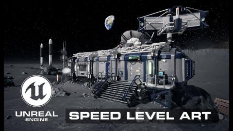 Speed Level Art - Lunar Base - Unreal Engine 4