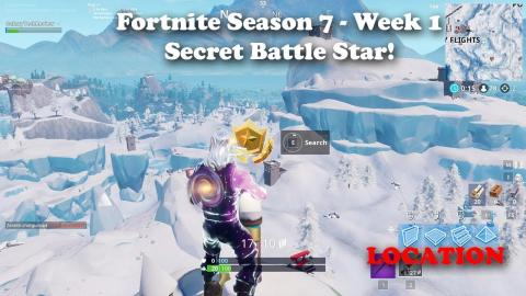 Fortnite - Season 7 - Week 1 - Secret Battle Star Location!