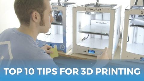 The Top Ten Tips For Getting Started With 3D Printing // 3D Printing Guide