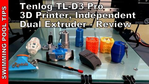 Tenlog TL-D3 Pro 3D Printer, Dual Independent Extruder, Duplicate and Mirror Mode, Print in 2-Colors