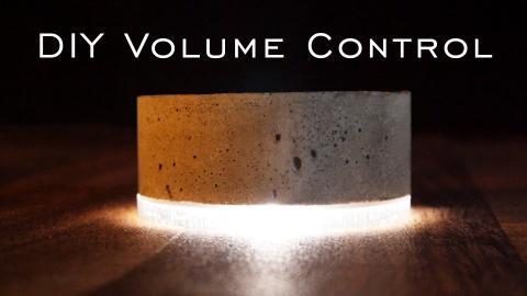 How To Make a Concrete Volume Knob