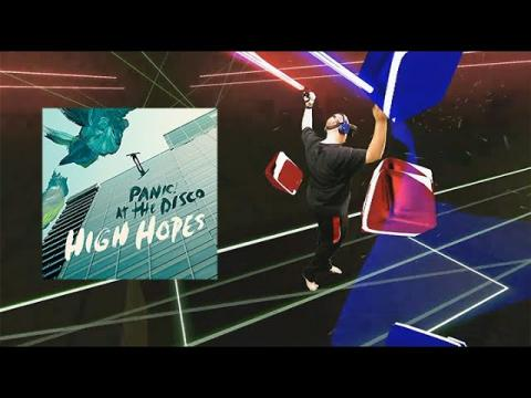 "**Flawless** Oculus Quest Mixed Reality - 360 Beat Saber- Panic! At The Disco's ""High Hopes"" Hard"