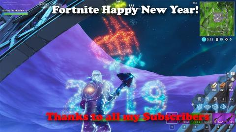 Fortnite - Happy New Year - Thanks to ALL my Subscribers!