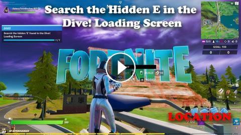 Search The Hidden E In The Dive Loading Screen Location