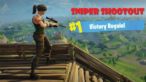 Fortnite - Sniper Shootout Fun with - TheOneAllyTV (I'm getting better)