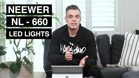 Neewer NL 660 LED Video Lights - Demo and Review