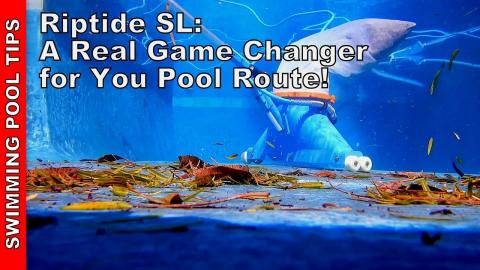 Fastest Way to Vacuum up Leaf Debris on Your Pool Route: Riptide SL Pool Vacuum System