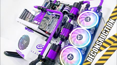 $4500 Ultimate Custom Liquid Cooled Gaming PC Build Deconstruction - Time Lapse Core P5 2018