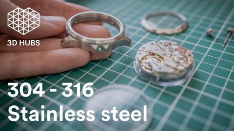 Stainless Steel: 304 vs 316 - Surface Finishes - CNC Machined Watch Cage