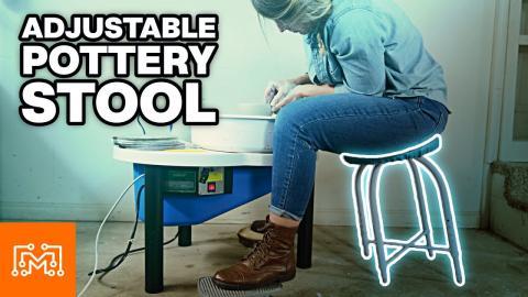 Making An Adjustable Pottery Stool | I Like To Make Stuff