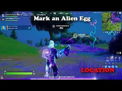 Mark an Alien Egg Location   Fortnite