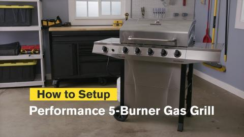 How to Assemble the Performance Series™ 5-Burner Gas Grill | Char-Broil®