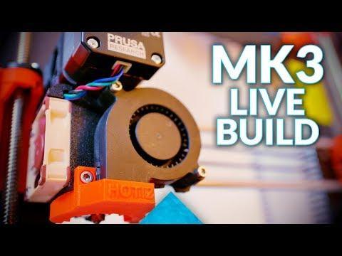 Live: Building the Original Prusa i3 MK3!