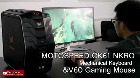 MOTOSPEED CK61 NKRO Mechanical Keyboard & Motospeed V60 Gaming Mouse - Gearbest.com