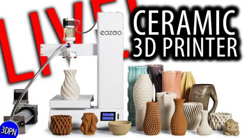 CERAMIC 3D PRINTER LIVE! Cerambot Eazao Unbox & First Print