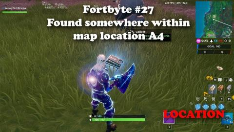 Fortbyte #27 - Found somewhere within map location A4  LOCATION(S)