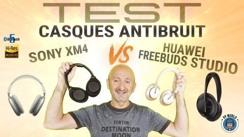 TESTS Casques ANTIBRUIT Huawei vs Sony XM4, Bose, APPLE Max (Essais en immersion audio 3D)