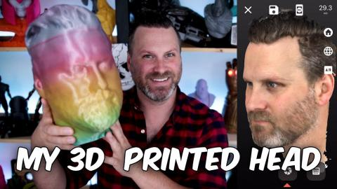 My Life Size 3D Printed Head   Scandy Pro iPhone X 3D Scan Followup