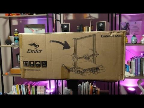 WAS LIVE Creality Ender 3 MAX Unboxing and First Test