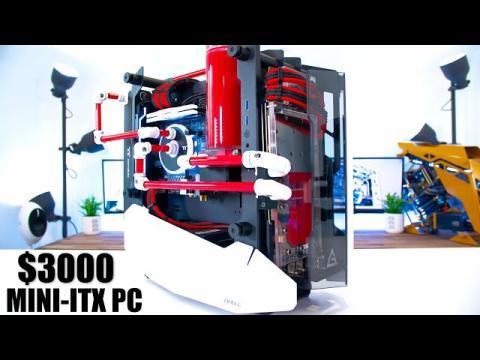 $3000 Mini ITX Water Cooled Gaming PC Build - 2080 ti & 3900x Time Lapse