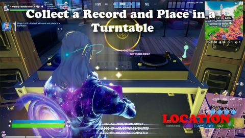Collect a Record and Place in a Turntable Location