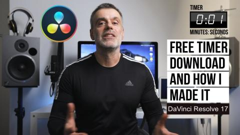 Free on Screen Timer to use on your video projects plus How I made it tutorial for Davinci Resolve
