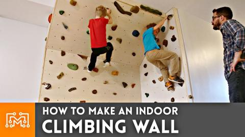 How to Make an Indoor Climbing Wall