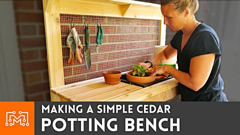 Making a Simple Potting Bench // Woodworking
