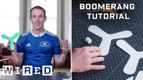 How to Make and Throw an Indoor Boomerang | WIRED