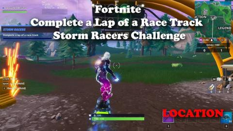 Fortnite - Complete a Lap of a Race Track - Storm Racers Challenge LOCATION