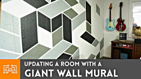 Updating a Room with a Giant Mural // How-to