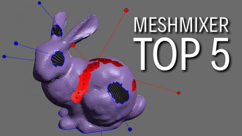 Top 5 Must Know Meshmixer Tricks for 3D Printing - FREE