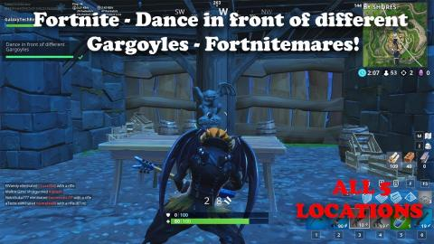 Fortnite - Dance In Front Of Different Gargoyles - All Locations - Fortnitemares Challenge