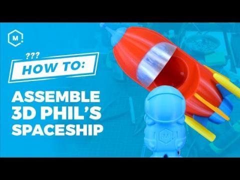 How To: Assemble 3D Phil's New Spaceship // 3D Printer Torture Test Print