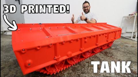 BIG 3D PRINTED TANK - IT ROLLS!!