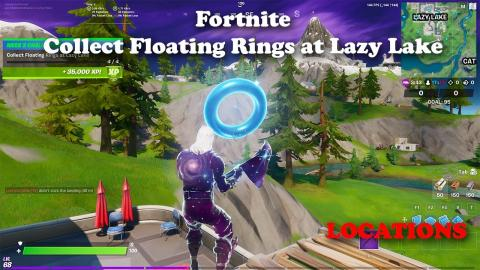 Collect Floating Rings at Lazy Lake - LOCATIONS