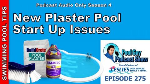 New Plaster Swimming Pool Start Up Issues