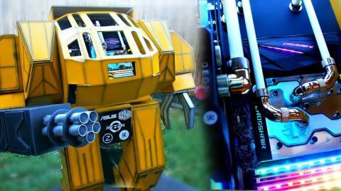 $4200 ULTIMATE GAMING PC BUILD - DIY RYZEN BATTLEBOT - Custom Water Cooled PC Time Lapse Build
