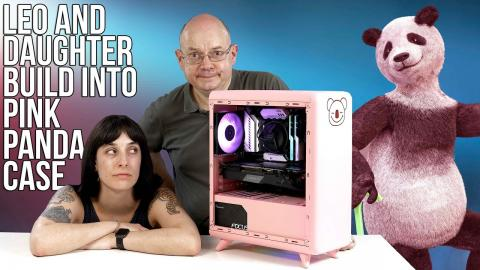 LEO and ROSIE PC Build into Golden Field Lucky PINK PANDA case