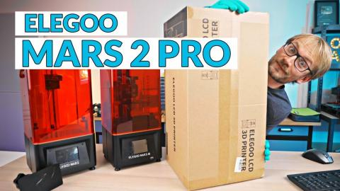 Was live: Unboxing the FAST Resin 3D Printer - Elegoo Mars 2 Pro (monocrome LCD!)
