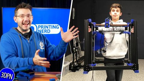 14 Year Old Sent THIS 3D Printer!