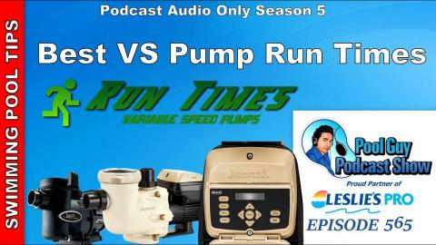 Best Variable Speed Run Times for your Swimming Pool