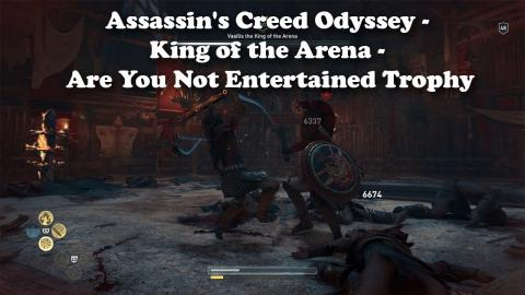 Assassin S Creed Odyssey King Of The Arena Are You Not