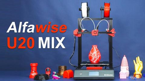 Alfawise U20 Mix Dual Color Printing Test & Operation