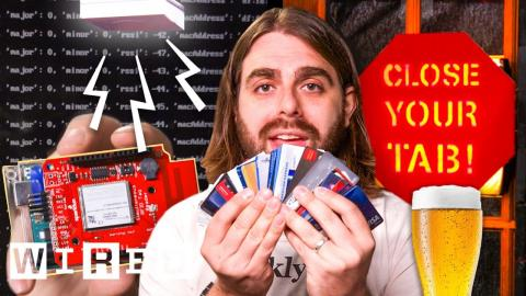 Bar Owner Builds an Alarm That Stops You From Forgetting Your Credit Card | Hack Job | WIRED